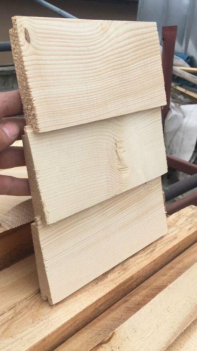 Дървена ламперия - сечак -  наклонена тип Созопол 9 см