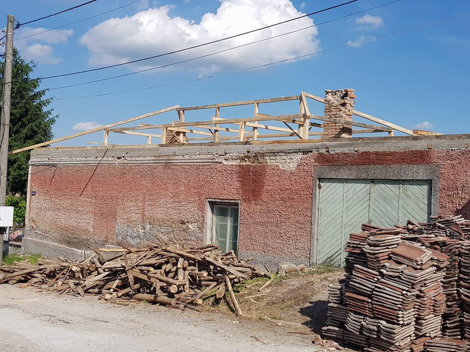 изграждане на покривна конструкция