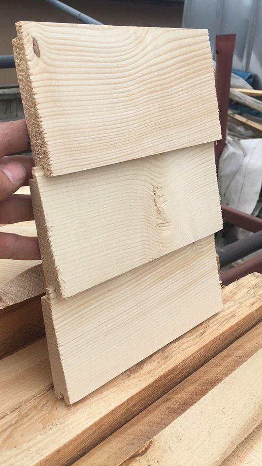 Дървена ламперия наклонена тип Созопол