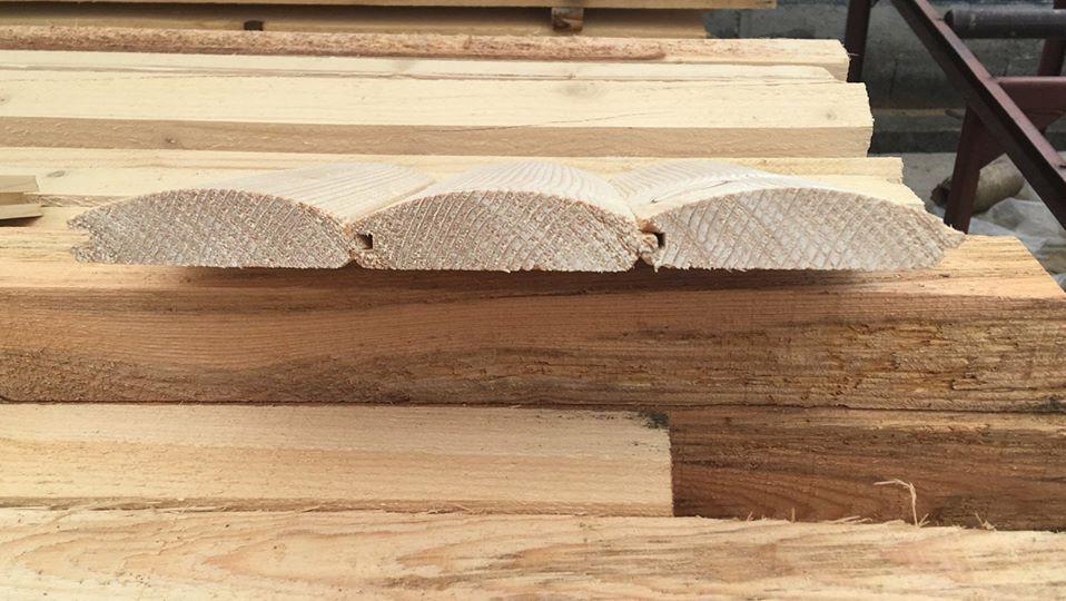 дървена ламперия полукръгла - обла