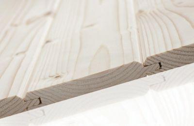 Стандартна дървена ламперия - сечак - за покриви 9 см